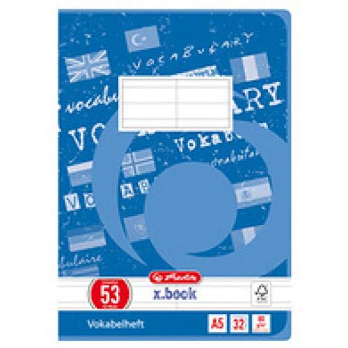 Herlitz Vokabelheft A5 Lineatur 53 FSC Mix, 32 BIatt