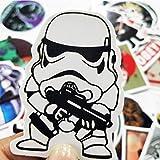Pegatina de película Star Wars divertida para portátil, guitarra, monopatín, maleta, graffiti, 50 unidades