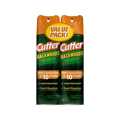 Cutter Backwoods Insect Repellent, Aerosol, 2 11-Ounce