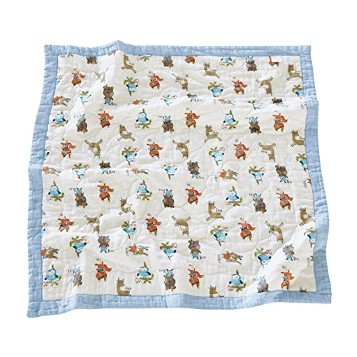 J-pinno Baby Milk Cow Nursery Muslin Cotton Bed Quilt Blanket Crib Coverlet 43.5