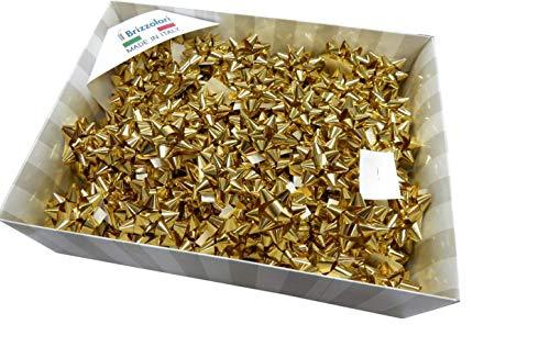 BRIZZ-OLARI Coccarda Stella Adesiva 10 mm Vari Colori 3070 (Oro 44051 col.03, 100 PZ.)