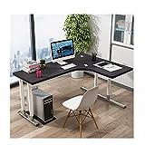 ZoSiP Legno Forma di L Tavoli da Ufficio ad Angolo Gaming scrivania a Forma di L Computer Desk Corner Table Workstation con Stile Moderno e MDF, Facile da Montare Scrivania del Computer