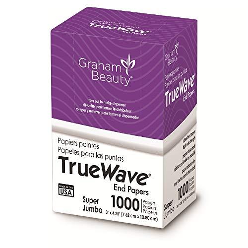 Graham Beauty Salon Truewave Super Jumbo End Paper 1000 Pack - HC-56175