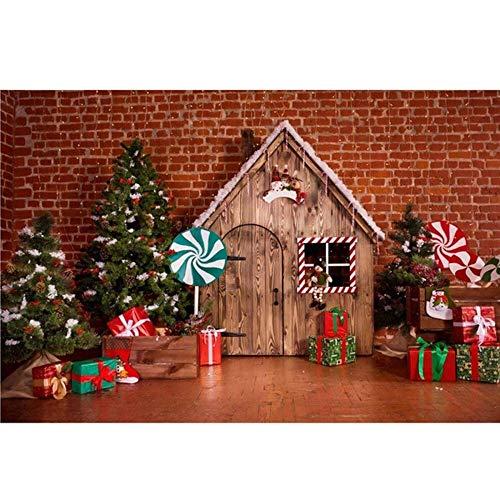 Fondo De Fotografía 3x5ft 5x7ft Vinil árbol De Navidad Puerta Puerta Fotografía Fondo Fondo Estudio Estudio para Video De Retrato De Estudio Fotográfico