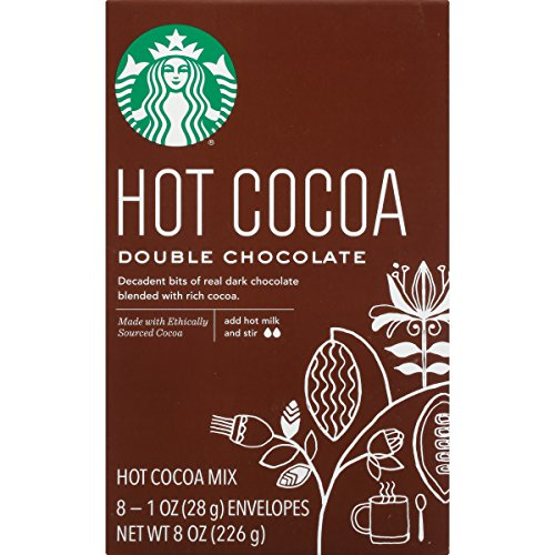 Starbucks Double Hot Chocolate Hot Cocoa Mix 1 Ounce Packets 8 Count Pack of 3