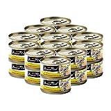 Fussie Cat Premium Tuna & Anchovies in Aspic Grain-Free Wet Cat Food 2.82oz, case of 24