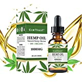 1000mg Hemp Oil Extract for Pain & Stress Relief - 1000mg of Pure Hemp Extract - 100% Natural Hemp Drops - Helps with Sleep, Skin & Hair