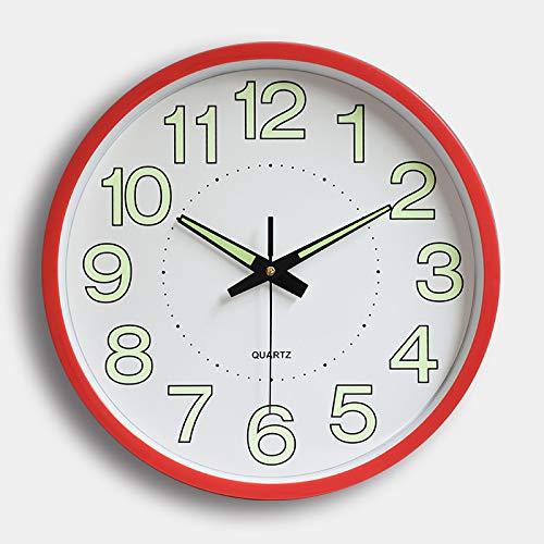 MYYXGS Reloj De Pared De PláStico Retro Luminoso Grande Reloj De Cuarzo Mudo Reloj De Pared Sin Tictac DecoracióN De Sala De Estar 305 * 305 * 43 Mm