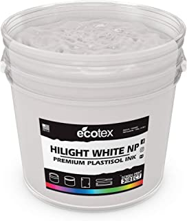 Ecotex HILIGHT White NP Plastisol Ink for Screen Printing - Non Phthalate Formula - All Sizes (Pint)