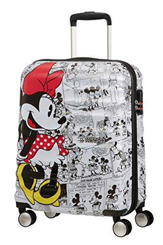 American Tourister Disney Wavebreaker  - Maleta Infantil, Spinner S (55 cm - 36 L ), Multicolor (Minnie Comics White)