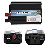 FTVOGUE Solar Power Inverter 12v a 220v / 110V 500W Car Power Inverter con Panel Solar Inversores de Corriente(12v to 220v/500W)