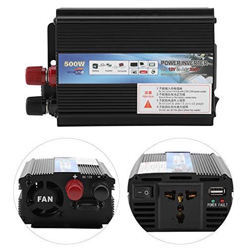 FTVOGUE Solar Power Inverter 12v a 220v / 110V 500W Car Power Inverter con Panel Solar Inversores de Corriente(12v to 220v/500W)