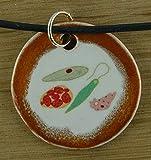 Echtes Kunsthandwerk: Toller Keramik Anhänger Prokaryoten; Zellen, Einzeller, Mikrobiologie, Biologie, Studium, Uni, Lehrer, Unterricht