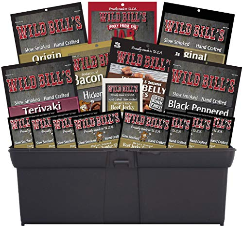Wild Bill's 16-Piece Sampler Tool Box (includes beef jerky, bacon jerky and pork belly bites)