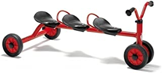 Winther Mini Viking Push Bike for Three (Red)