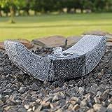 CLGarden SB15-2 - Fuente de granito con iluminación LED para jardín