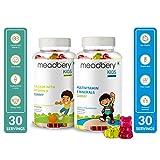 Meadbery Kids Multivitamin & Calcium Combo, Gummy Bears Gluten-Free Formula with Minerals