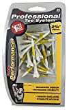 Pride Performance Professional Tee System Plastic Golf Tees (30 Count) , Yellow, 2-3/4 Inch