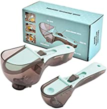 Adjustable Measuring Cups Multi-functional Spoons Sets with Scale Measuring Scoop 2-Piece Set
