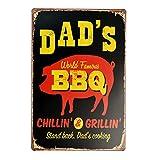 【USA アメリカン デザイン】DAD'S BBQ バーベキュー USA キッチン レストラン カフェ ガレージ サインボード ビンテージ バイカー インテリア 看板 ; AVSB-311
