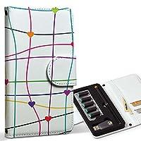 スマコレ ploom TECH プルームテック 専用 レザーケース 手帳型 タバコ ケース カバー 合皮 ケース カバー 収納 プルームケース デザイン 革 チェック・ボーダー ハート カラフル 模様 007507