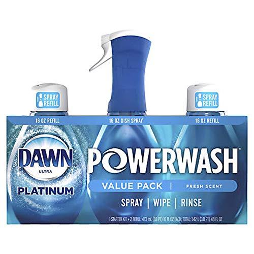 Dawn Platinum Powerwash Dish Spray Soap, Fresh Scent Refill- 16oz