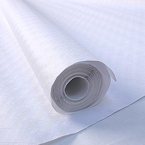 Nappe papier damassée 60g - 1.20X50m - blanc - le rouleau