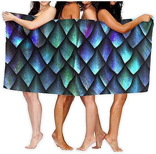Toalla de Playa Toalla Dragon Scale Toalla de baño Gym Body Wrap 80 × 130cm