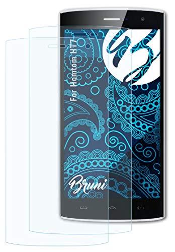 Bruni Schutzfolie kompatibel mit Homtom HT7 Folie, glasklare Bildschirmschutzfolie (2X)