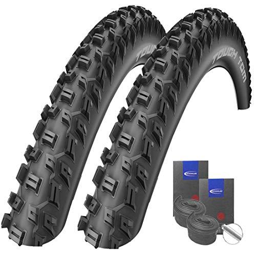 Reifenset : 2 x Schwalbe Tough Tom MTB-Reifen Stollenprofil 29x2.25/57-622 + Schwalbe SCHLÄUCHE Autoventil