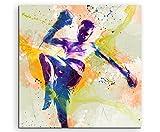 Kickboxen II 60x60cm Wandbild SPORTBILD Aquarell Art tolle