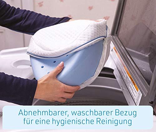 Mediashop Dreamolino Leg Pillow – ergonomisches Seitenschläferkissen für optimale Unterstützung – Memory Foam Kissen für Seitenschläfer stützt Beine, Knie und Rücken - Versand Edition - 8