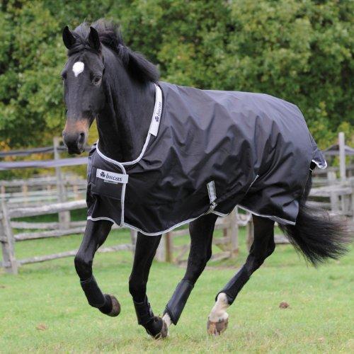 BUCAS Outdoor Pferdedecke SMARTEX RAIN, schwarz, 165