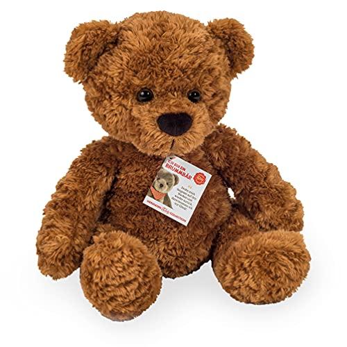 Teddy Hermann 91383 Teddy braun 35 cm mit Brummstimme, Kuscheltier, Plüschtier