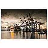 artboxONE Poster 90x60 cm Städte Waltershofer Hafen VI -