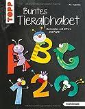 Buntes Tieralphabet (kreativ.kompakt): Buchstaben und Ziffern aus Papier