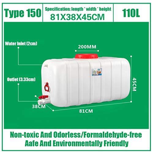 Yimihua Bidon Aqua Almacenamiento De Agua De Plástico Cubo 25L/45L/80L/110L/160L/200L Contenedor con Agua Tap HDPE Nevera Bebida Líquida del Tanque Depositos De Agua De Lluvia (Size : D)