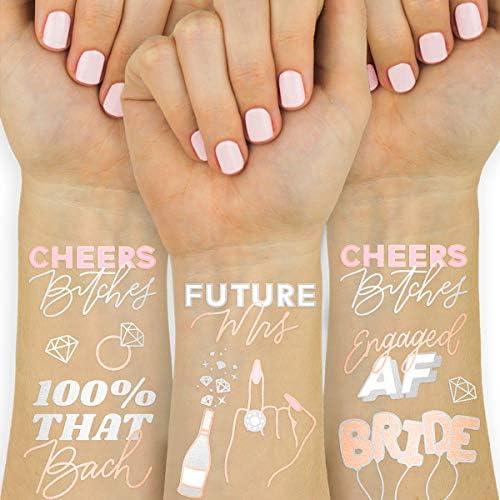 xo Fetti Future Mrs Cheers Tattoos 30 Glitter Styles Bachelorette Party Decoration Bridesmaid product image