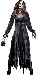 CarnivalHalloween Horror Zombie Vampire Costume Gruesome Ghost Dress,Black,XL