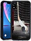 iPhone Xr Case Puck Hockey Customize Personalized Silicone Thin Anti-Scratch Black Case for iPhone Xr