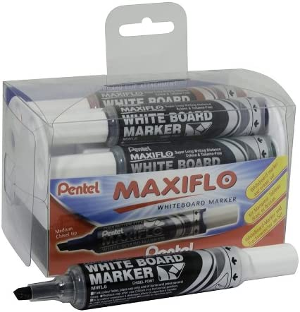 Pentel Maxiflow White Board Eraser Set Medi 4 outlet Chisel Colours Special Campaign Tip