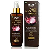 WOW Skin Science Onion Black Seed Hair Oil - Controls Hair Fall - No Mineral Oil & Silicones, 200 ml