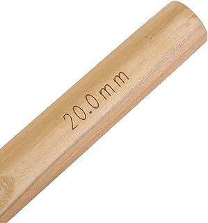 PerGrate 15/20/25/30 Aiguilles à tricoter en bois pour travaux de couture, 15 mm
