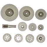 JIAN LIN 5pcs / 10pcs / 30pcs Discos de Corte de Diamante Cuchilla de Sierra Circular Rueda de molienda para Accesorios de Herramientas rotativas 3mm Shank (Size : 30mm10pcs)