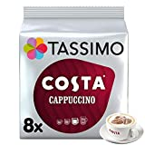 Tassimo Costa Cappuccino Coffee Pods (Pack of 5, Total of 80 Coffee Capsules)