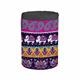 IBILIU Tribal Elephant,Paisley Hamsa Travel Cosmetic Bag,Drawstring Barrel Portable Foldable Case Makeup Bag Mandala Vintage Retro Color Baby Toiletry Bag Organizer for Women Girl Travel Daily