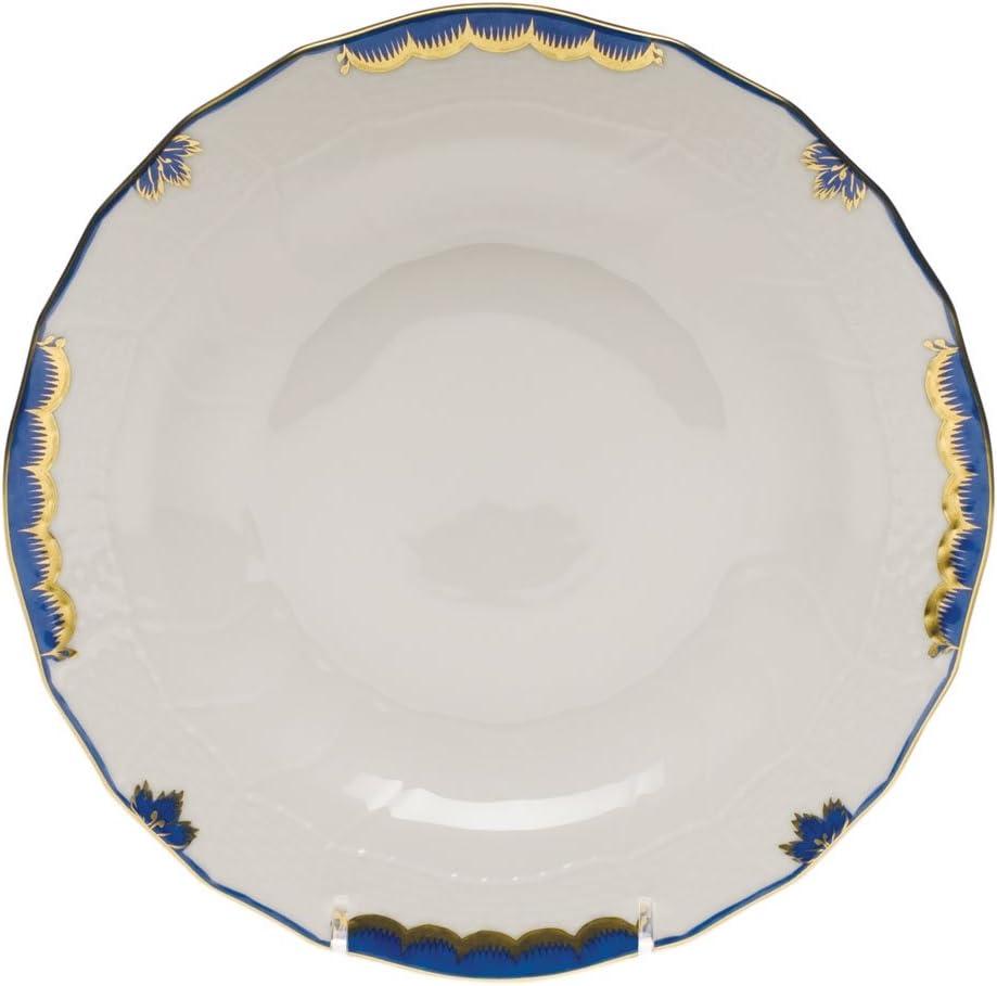 Herend Raleigh Mall Princess specialty shop Victoria Blue Plate Dessert Porcelain