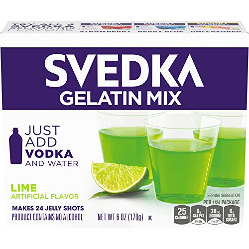 SVEDKA Lime Gelatin Dessert Mix (6 oz Boxes, Pack of 14)