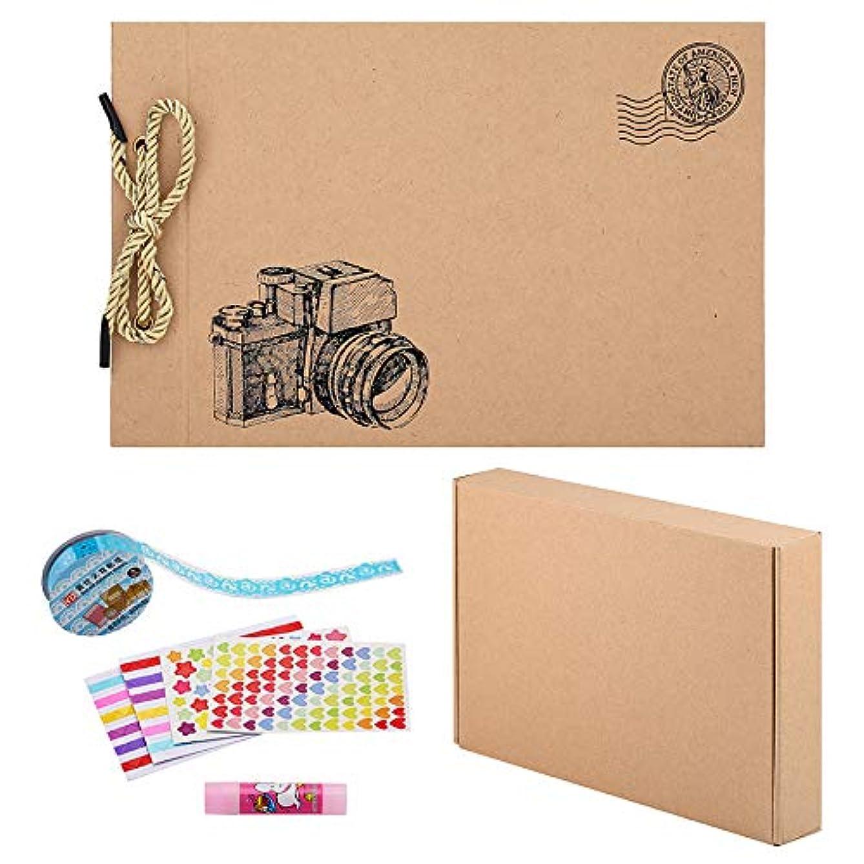 lawrencewang68 80 Pages Scrapbook DIY Photo Album Memory Book Hand Made DIY Albums (Yellow Camera)