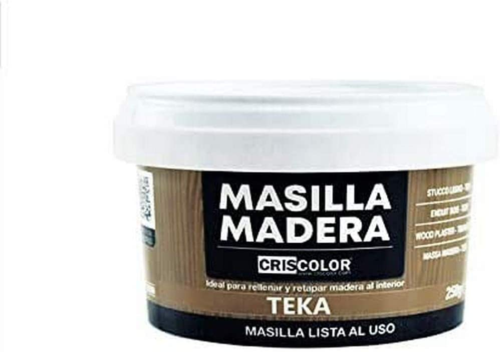 CRISCOLOR Masilla Madera Teka, ENVASE 250gr.